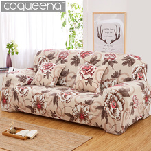 Floral Pattern Elastic Stretch Universal Sofa Covers Sectional Throw Couch Corner Cover Cases for Furniture Armchairs Home Decor(China)