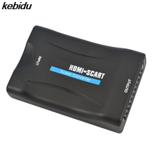 kebidu HDMI To SCART Converter Composite Audio Video PAL HDCP Blu-Ray DVD STB SKY With Power Supply Support 1080P(China)