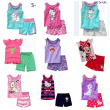 Dora, Baby/Children pajamas, 100% Cotton Rib sleeveless vest sleepwear clothing sets for 2-7 year girl sleeping suits