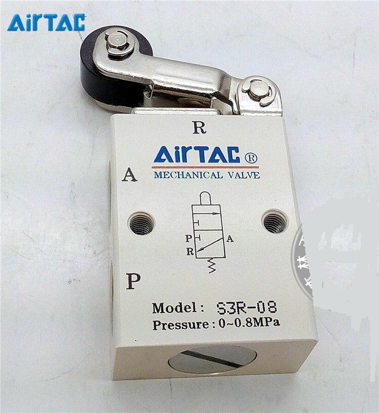 Supply AirTac genuine original mechanical valve S3R-08.<br>