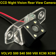 Waterproof 0Lux/ 4 LED Rear view Camera BackUp Reverse Parking Camera for VOLVO S80 S40 S60 V60 XC90 XC60 Car 8045LED(China)