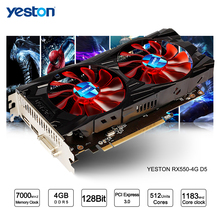 Yeston Radeon RX 550 GPU 4GB GDDR5 128bit Gaming Desktop computer PC Video Graphics Cards support DVI/HDMI(China)