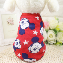 Cute Pet Dog Clothes for Dogs Summer Puppy Chihuahua Cat Cotton T-shirt Vest Clothing for Small Dogs Pet Coat XS-XXL