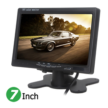 7 Inch 800 x 480 RGB Digital Display 2 Video Input RearView Headrest Car VCR Monitor Supports Car Backup Camera.