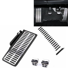 Stainless Car Pedals For  VW Passat B6 B7 CC Alltrack Sharan 7N Skoda Superb II Fuel Clutch Footrest Plate Cover Accessories