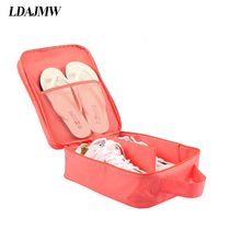 LDAJMW Portable Waterproof Shoes Dust Bag Organizer Storage Pouch Pocket Packing Cubes Handle Nylon Zipper Bag for Travel(China)