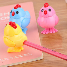 1 Pcs Mini Kawaii Funny Chick Pencil Sharpener Cutter Knife School Student Stationery Supplies