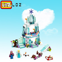 LOZ 31Color box Dream Princess Elsa Ice Castle Anna Set Model Building Blocks Gifts Toys Compatible legoe Friends - BRICKS Store store