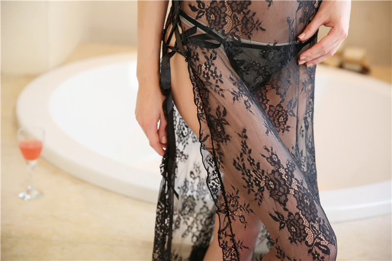 Sexy Ladies Long Dress Hot Sexy Babydoll transparent sexy asian lingerie AG923-2