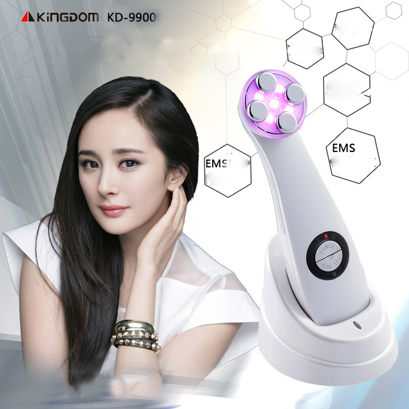 2016 New KD-9900 110V-240V RF LED Lifting And Tightening Skin Whitening Photon No-Needle Mesotherapy EMS Photon Anti-aging Tool<br>