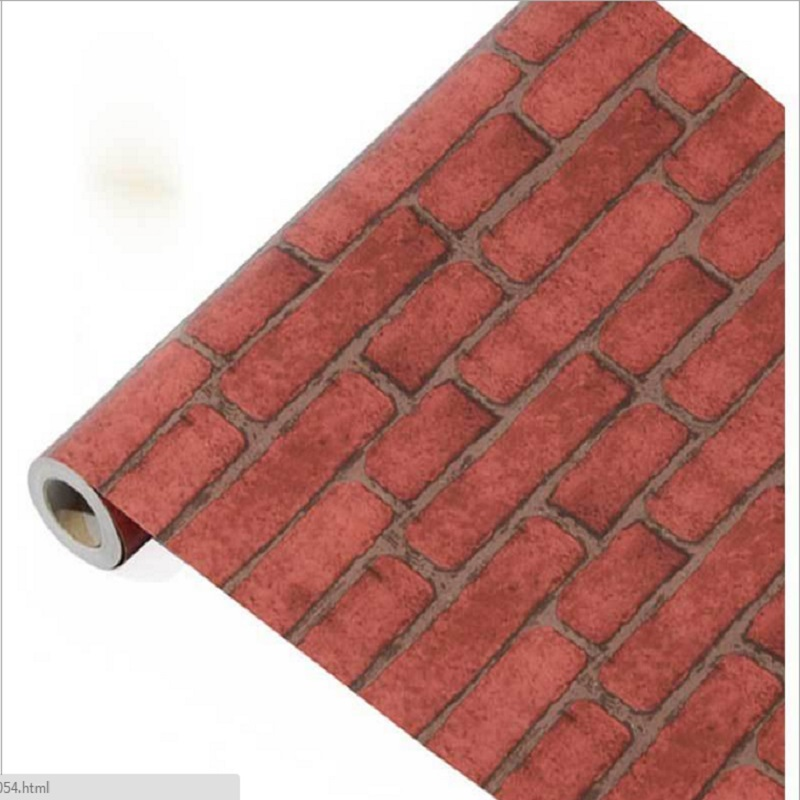 10m*45cm PVC imitation brick grain bedroom metope wallpaper self-adhesive wall roll TV background storefront renovation stickers<br>