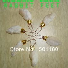 free shipping,lucky charm,amulet,talisman,rabbit foot,rabbit feet,cheap keychain,lucky gift, cheap gift ,mini keychain(China)
