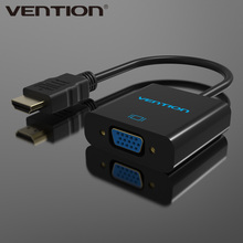 Vention HDMI to VGA Adapter Converter Cable Male to Female Audio USB Port Power for Project DVD VCD Computer HDMI VGA converter(China)