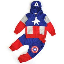America Baby Boys Clothing Sets Cotton Sport Suit for Boys Clothes Hero Cosplay Costumes Kids Clothes Set Tracksuits Tops