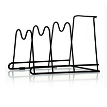 Pan Shelf Pan Cover Stand Kitchen Storage Holder Multifunction Storage Racks Four Layers Dish Rack Shelves Kitchen Pan Racks(China)