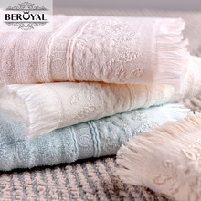 New 2017 Hand Towel - 34*72cm 100% Cotton Towels Solid Embroidered Brand Towel Gift Breathable Quick Dry Towels Bathroom