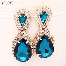 Hop Bijouterie Earring Studs Women's Handbags Droplets Shining Gold Silver Plated Crystal Drop Earrings Women Snowflake E017(China)
