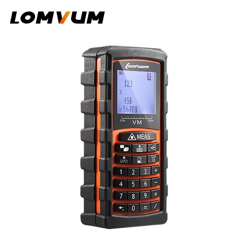 LOMVUM 40m/60m/80m/120m trena Laser Rangefinder Digital Distance Meter electronic sensor Keyboard calculation ferramentas<br>