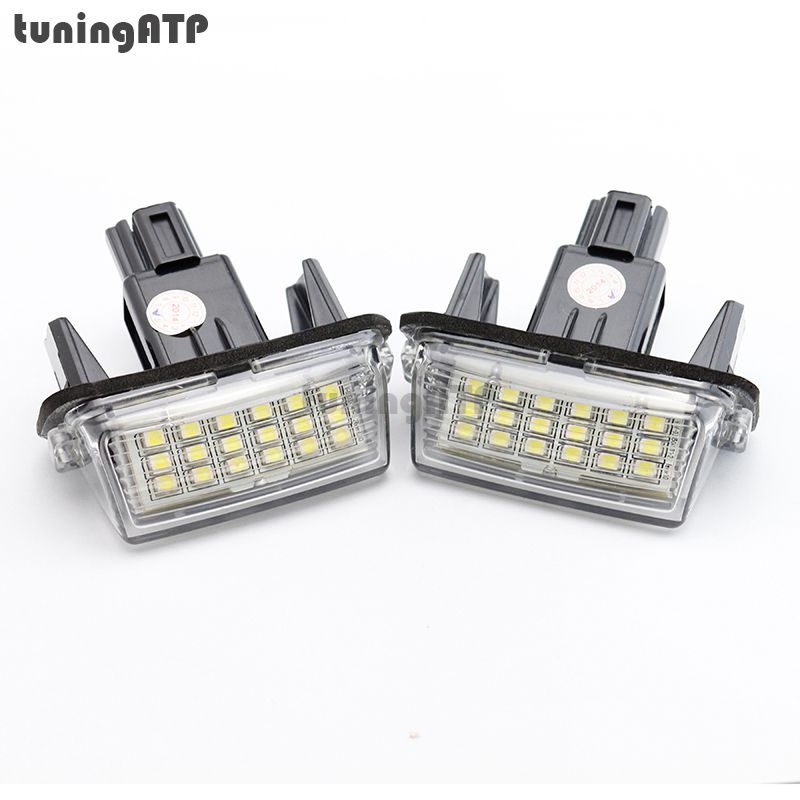 18-SMD LED License Number Plate Light for TOYOTA Camry XV50 / Corolla Fielder NZE161 / Yaris XP150 / Prius C / Ractis / Verso-S<br><br>Aliexpress
