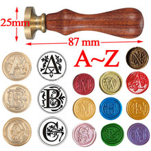 Retro High Quality Classic 26 letter A-Z Alphabet Initial Sealing Wax Seal Stamp Post Decorative Free Shipping