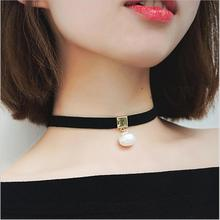 Romantic Choker Necklace Simulated Pearl Necklace Fashion Jewelry simulated Pearl collar necklace choker necklace jewelry C5 C6