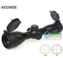 New 4X32 optical zoom red and green cross sight riflescope hunting gunsight for gun camera bird waching