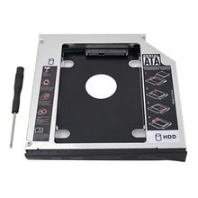 "2nd HDD Caddy 12.7mm IDE 2.5"" Aluminum HDD Box Case Enclosure For Dell Inspiron 1525 1526 1545 M1330 M1530 Professional"