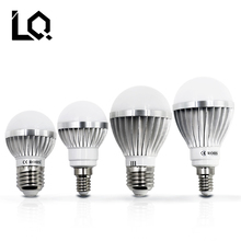 Metal LED Bulb Lamps E27 E14 220V - 240V Light Bulb Smart IC Real Power 3W 5W 7W 9W 12W High Brightness Lampada LED Bombillas