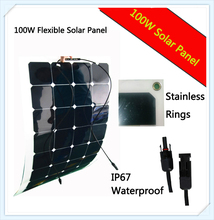 sunpower solar panel 100 w SOLAR PANELS 12V mono cyrstalline solar cell 100watt solar panel car battery charger