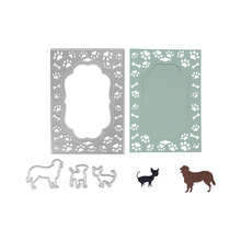 88*125MM Dog Stitch Frame Metal Dies Cutting Decorative Embossing Scrapbooking Steel Craft Die Cut Stamps Card Stencil Gowing(China)