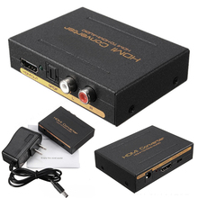 HDMI to HDMI Converter Audio Splitter Adapter HDMI To HDMI & Optical SPDIF + RCA L/R 1080P Audio Extractor Converter Splitter