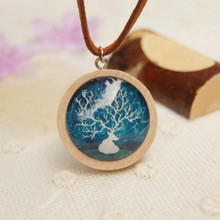 Flyleaf New Arrival Handmade Wood Glass Deer Necklaces & Pendants For Women Personalized Jewelry Accessories Wholesale