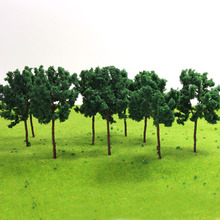 20PCS Iron wire Model Trees TT N 7cm model railroad trees 7040 terrarium miniatures model building kits 1:35-1:300 tree(China)