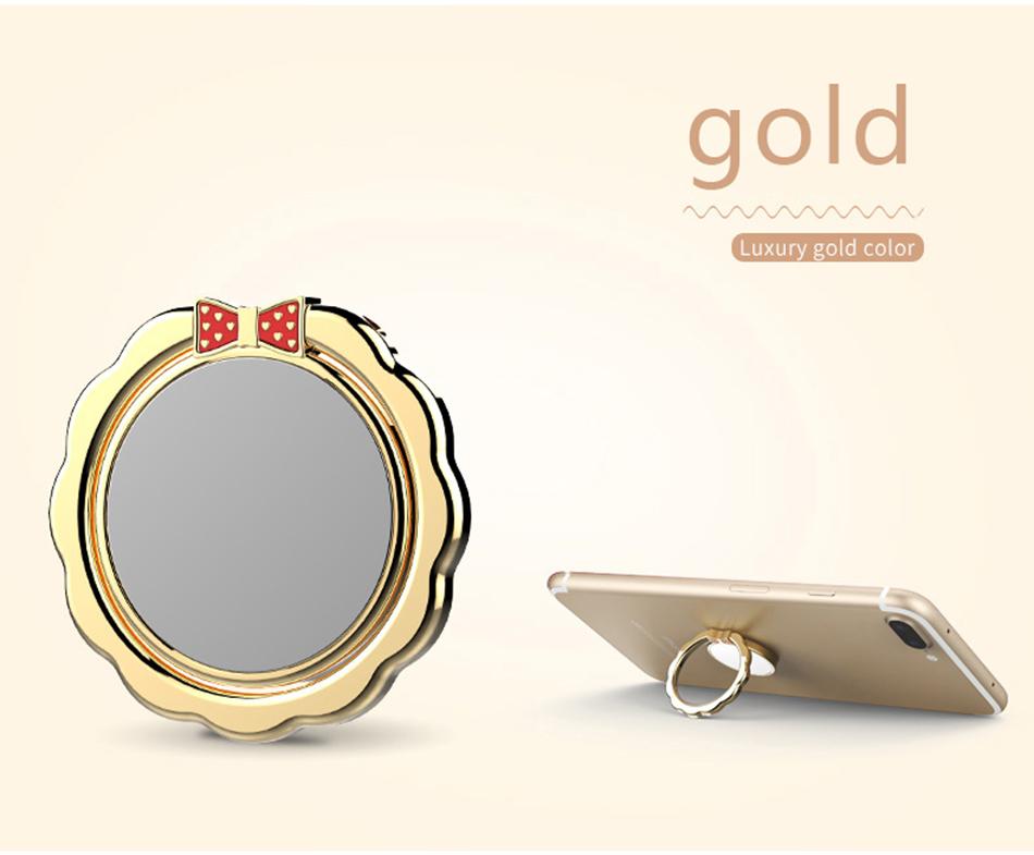 Original H&lOO mirror Ring Bracket Finger Grip Phone Desktop Holder Safe and Firm Built-in Iron Sheet for Most Mobile Phones (15)