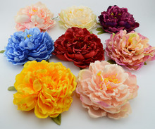 15cm Artificial flower silk flower  peony flower retro hairpin headdress hair Wedding Home Party Decoration