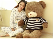 free shipping , huge 120cm teddy bear , brown bear plush toy throw pillow , Christmas gift t6897(China)