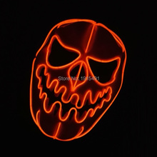 New Design Crazy Movie Theme LED Neon cold light Mask Novelty Lighting Easter Day decor Steady on/Flashing EL wire Horrible Mask