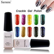 Sarness Crack nail polish crackle UV gel nail polish 3d nail art gel uv gel nagellak 12 lucky color fashion led lamp nail(China)