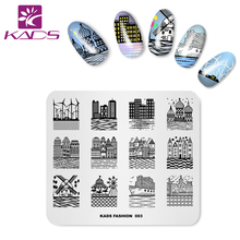 KADS New Arrival Fashion 003 Series Design Building Shape Appearance Templates DIY Image Nail Art Decorations Stamp(China)