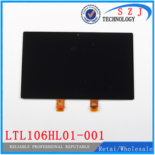 New 10.6'' inch For Microsoft Surface PRO 2 1601 LTL106HL01-001 Touch Digitizer LCD Screen Display Assembly Free shipping
