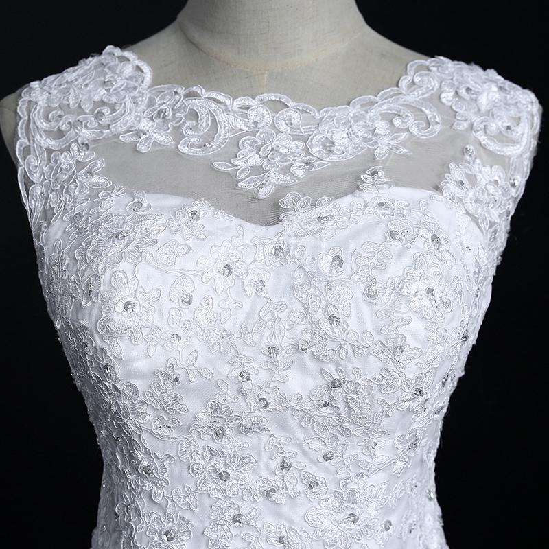 Fansmile New Arrival Lace Mermaid Wedding Dresses 2017 Plus Size Bridal Alibaba Wedding Dress Real Photo Free Shipping FSM-144M 7