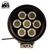1 piece 6 inch 70w 7 led work light car auxiliary lamp with Diecast aluminum housing for Ford