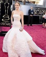 Wholesale - The 85th Annual Academy Awards Jennifer Lawrence White Ball Gown Strapless Oscar Celebrity Red Carpet Dresses