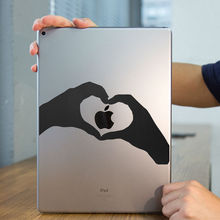 "Heart Shape Hand Gesture Tablet PC Laptop Decal Sticker for iPad 1/2/3/4/Air/mini/Pro 7.9"" / 9.7"" / 12.9"" Notebook Sticker Skin"