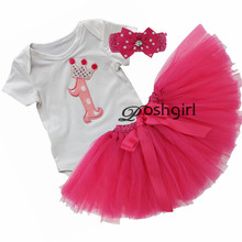 Festival Christmas Baby Girls Clothes Set Romper+Veil Skirt Toddler Girl Birthday Gift for Newborn Baby Girls Xmas Clothing Suit(China)
