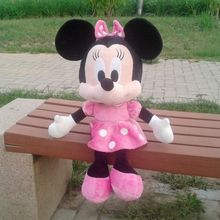 58cm Big Original Rare Minnie Mouse Q Version Cute Stuffed Animals Doll Plush Toy Baby Children Gift Birthday Gift Collection