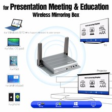 Plug And Play 5G 2.4G Mirror Link Box Support 1080P Full HD Wireless Presenter IR Control With VGA HDMI Optical Fiber MiraBox(China)