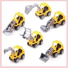Hot Sale New 6 Styles/Set Mini Diecast Car Construction vehicle Engineering Car Model Classic Christmas Kids Gift Set Brinquedos(China)