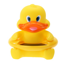 Baby Toy Bath Thermometers 2 in 1 Yellow Lovely Duck Baby Bath Floating Toy with LCD Screen Water Thermometer(China)
