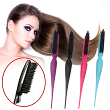 Teasing Back Hair Comb Brush Slimline Styling Shaping Hairdressing Combing Bristle Fiber Hairbrush Pro Salon Art Equipment Z3